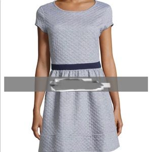 Neiman Marcus quilted gray dress
